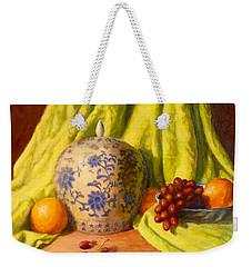 Weekender Tote Bag featuring the painting La Jardiniere by Joe Bergholm