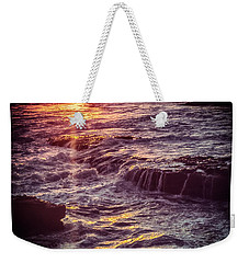 Weekender Tote Bag featuring the photograph La Jolla Sunset-color by Samuel M Purvis III