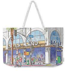 La La Land And Marshalls Stores In Hollywood Blvd., Hollywood, California Weekender Tote Bag