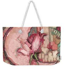 La Luna Rosa Weekender Tote Bag by Carrie Joy Byrnes