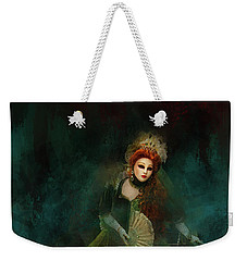 Weekender Tote Bag featuring the digital art La Madonna Della Verde by Jack Torcello