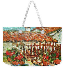 Weekender Tote Bag featuring the painting La Mancha by Mindy Newman