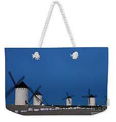 Weekender Tote Bag featuring the photograph La Mancha Windmills by Heiko Koehrer-Wagner