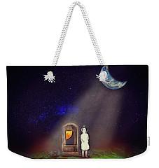 Weekender Tote Bag featuring the digital art La Petite Princesse by John Haldane