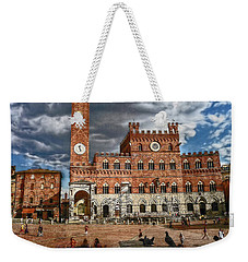 Weekender Tote Bag featuring the photograph La Piazza by Hanny Heim