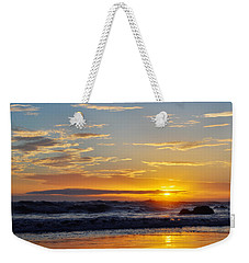 Weekender Tote Bag featuring the photograph La Piedra Sunset Malibu by Kyle Hanson