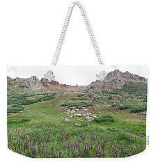 Weekender Tote Bag featuring the photograph La Plata Peak by Cascade Colors