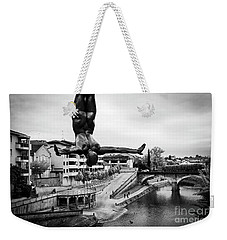 La Plongueuse Over The Midouze River Weekender Tote Bag by RicardMN Photography
