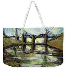 La River 6th Street Bidge Weekender Tote Bag by Randy Sprout