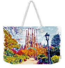 La Sagrada Familia - Park View Weekender Tote Bag by Marian Voicu