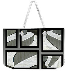 Weekender Tote Bag featuring the photograph La Stairs Collage 01a by Ausra Huntington nee Paulauskaite