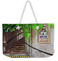 Weekender Tote Bag featuring the painting La Villita by TM Gand