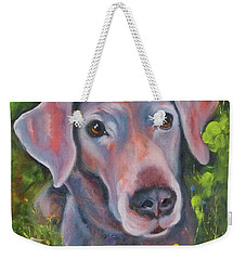 Lab In The Grass Weekender Tote Bag