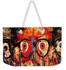 Label The Brain Through The Eyes - Lords Of Madness Weekender Tote Bag
