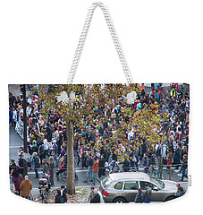 Labor Protest In Paris Weekender Tote Bag by Hugh Smith