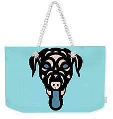 Labrador Dorianna - Dog Design - Island Paradise, Pale Dogwood,  Niagara Blue Weekender Tote Bag