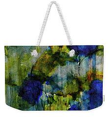 Weekender Tote Bag featuring the painting Labradorite Dreams Ink #9 by Sarajane Helm