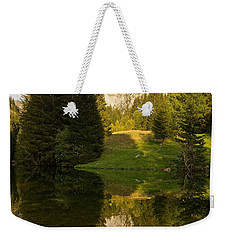 Lac De Fontaine Reflections Weekender Tote Bag