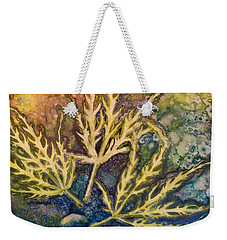 Lace Leaves Weekender Tote Bag by Nancy Jolley