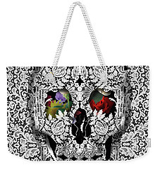 Lace Skull White Weekender Tote Bag by Bekim Art