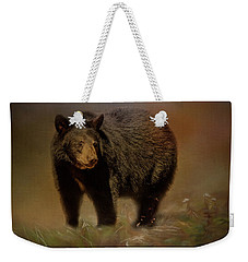 Black Bear In The Fall Weekender Tote Bag
