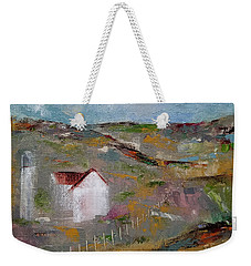 Weekender Tote Bag featuring the painting Lackawanna Capture by Judith Rhue