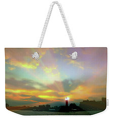 Weekender Tote Bag featuring the photograph Lackawanna Transit Sunset by Diana Angstadt