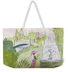 Ladies By Fountain Weekender Tote Bag