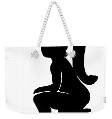 Ladies Room Sign Silhouette Weekender Tote Bag