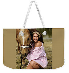 Lady And Her Horse 2 Weekender Tote Bag