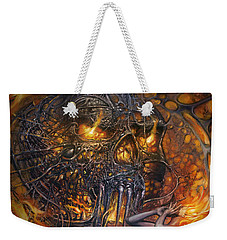 Lady And Skull Weekender Tote Bag
