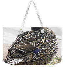 Weekender Tote Bag featuring the photograph Lady by Angie Rea