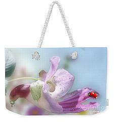 Lady Bug On Flower Weekender Tote Bag