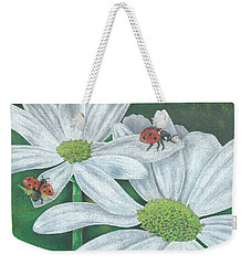 Lady Bugs Weekender Tote Bag by Troy Levesque