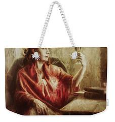 Lady By The Window Weekender Tote Bag