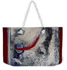 Lady Deciding Weekender Tote Bag