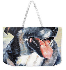 Weekender Tote Bag featuring the painting Lady by Diane Daigle
