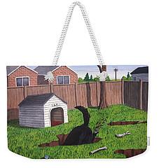 Lady Digs In The Backyard Weekender Tote Bag