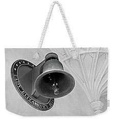 Weekender Tote Bag featuring the photograph Lady Elizabeth's Bell Clare College Cambridge by Gill Billington