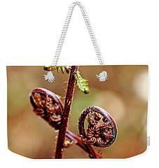 Lady Fern Spirals Weekender Tote Bag by Debbie Oppermann