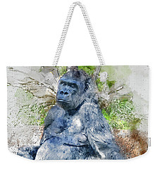 Lady Gorilla Sitting Deep In Thought Weekender Tote Bag