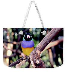 Lady Gouldian Finch Weekender Tote Bag by Haleh Mahbod