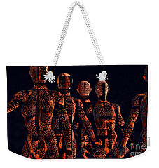 Weekender Tote Bag featuring the photograph Lady Hunters by Luc Van de Steeg