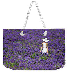 Lady In Lavender Field Weekender Tote Bag