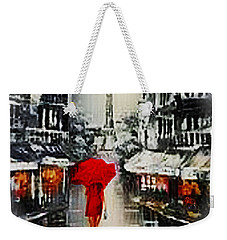 Lady In Paris Weekender Tote Bag