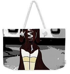Lady In Stockings Weekender Tote Bag