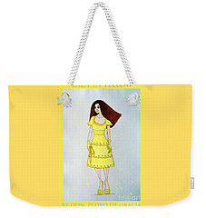 Lady In Yellow Weekender Tote Bag by Don Pedro De Gracia
