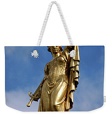 Weekender Tote Bag featuring the photograph Lady Justice In Bruges by RicardMN Photography