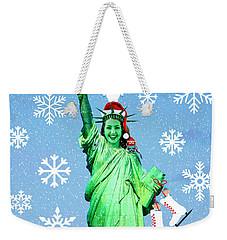 Lady Liberty's Got The Christmas Spirit II Weekender Tote Bag