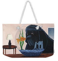 Lady Looks In The Fish Bowl For Mommy And Daddy Weekender Tote Bag